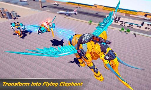 Flying Elephant Robot Transform: Flying Robot War 1.1.1 Screenshots 3
