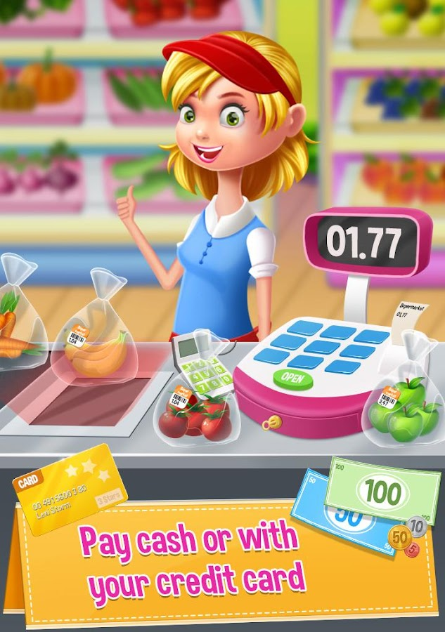 Supermarket Manager: Cashier Simulator Kids Games- screenshot