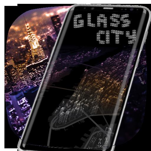 New York Glass City Theme Launcher
