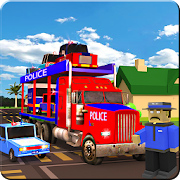 Blocky Police Airplane Transporter