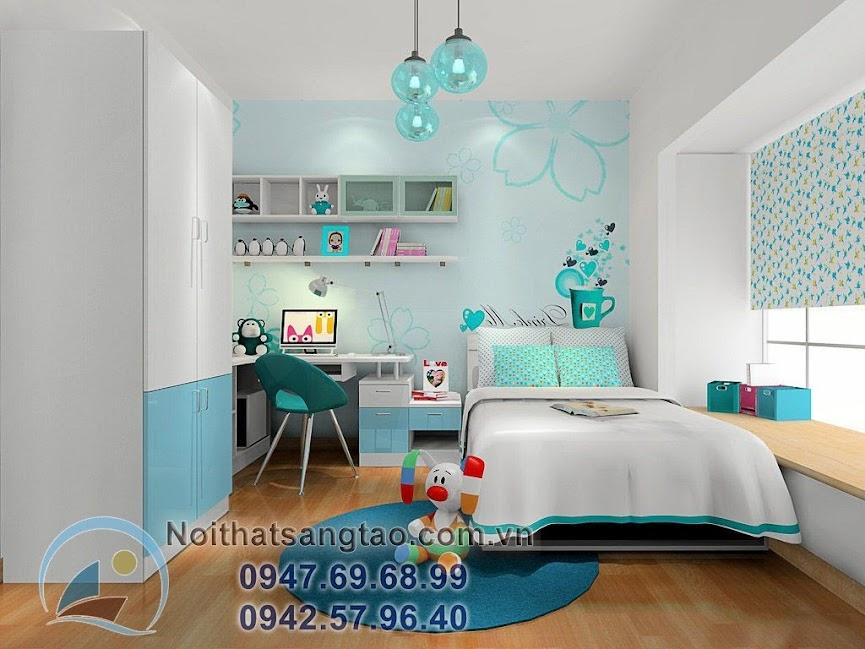 thiết kế phòng ngủ bé gái 3