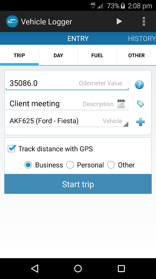 Vehicle Logger | Log Book- screenshot