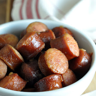 Crock Pot Apple Kielbasa Bites.