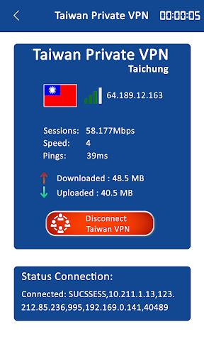 Taiwan Private VPN Proxy Server App Report on Mobile Action - App