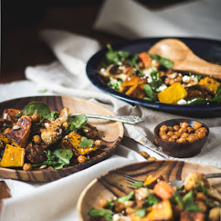 Moroccan-style Roasted Vegetable Salad With Crispy Chickpeas.