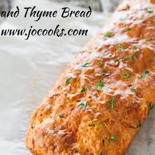 Cheddar Olive Thyme Bread Recipe