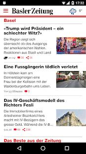 Basler Zeitung - náhled