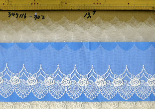 Photo: №347116-30チュールレースオフ:巾75㎜