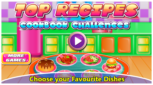 Top Recipes Cook Book Challenges -Kids cooking  captures d'écran 1