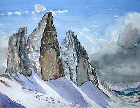 Photo: Tres cimas de Lavadero, 31x41 cm s/ papel Arches 300 g, 320 €