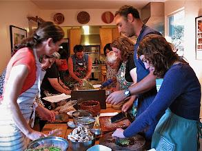 Photo: different teams preparing ingredients