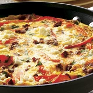 Chorizo and Pepper Frittata.