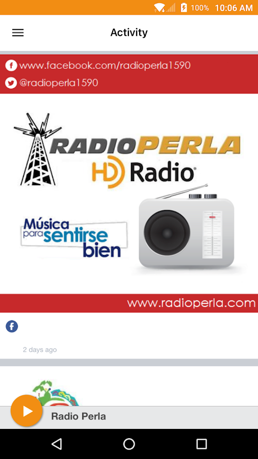 Radio Perla- screenshot