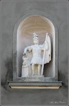 Photo: Str. Mihai Eminescu, Nr.3 - Casa cu ornament, Statuia Sf.Florian, detaliu - 2018.02.22