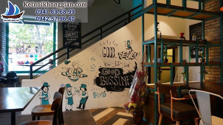 thiết kế quán cafe độc đáo tại định công
