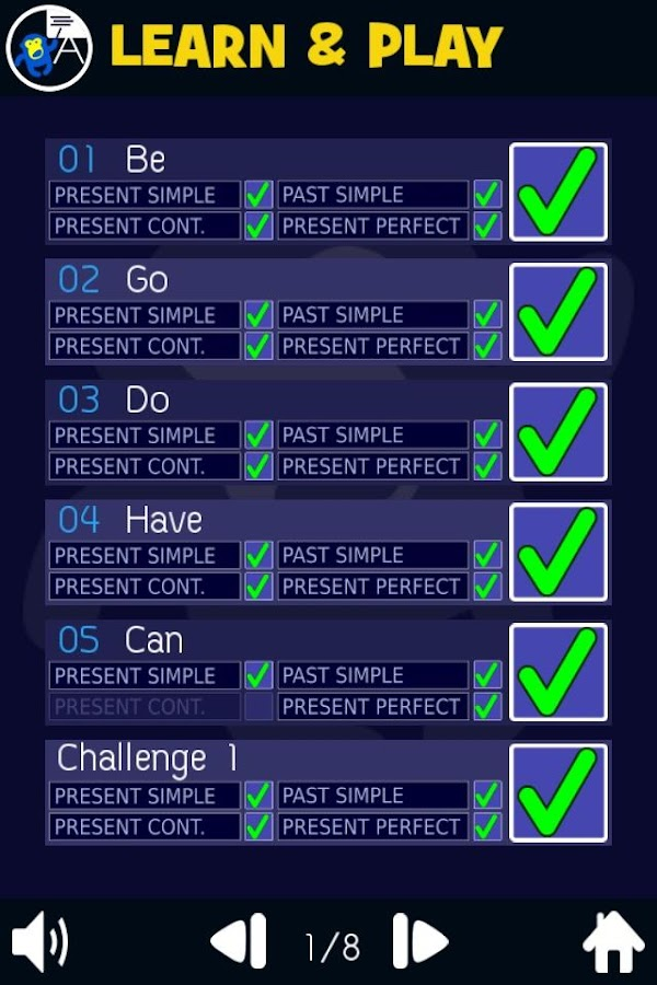 Verb Smash - English Tenses - Basic ESL Grammar- screenshot