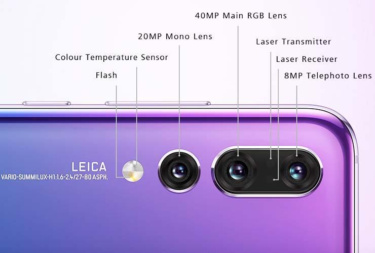 Bagan kamera Huawei P20 Pro. (Foto: Setia)