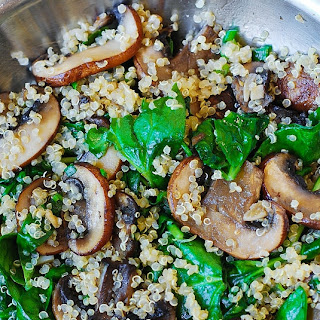 Quinoa Mushroom Spinach Recipes.
