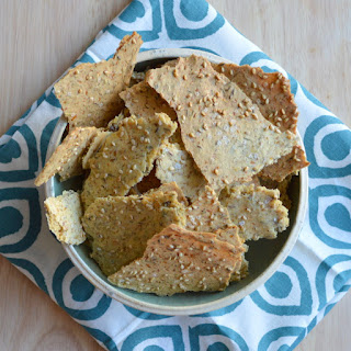 Herbed Multi-Seed Chickpea Crackers