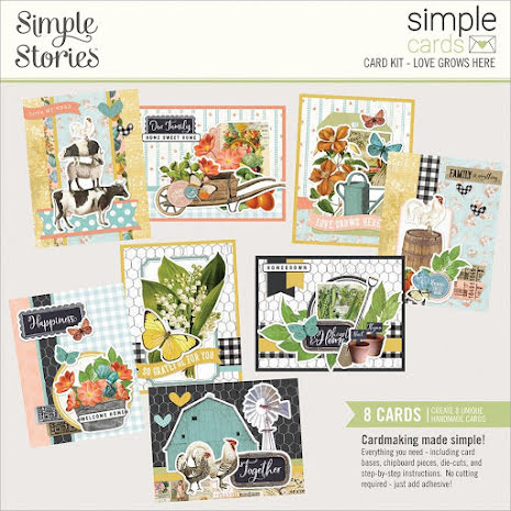 Simple Stories Simple Cards Kit - SV Farmhouse Garden Love Grows Here
