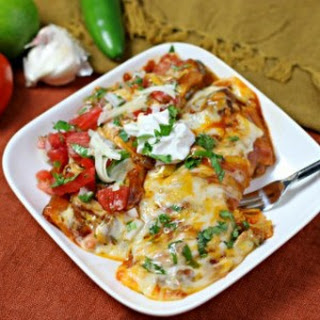 Cheesy Adobo Enchiladas