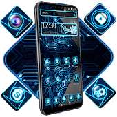 Neon Technology Launcher Theme Android APK Download Free By ThemesDesignStudio