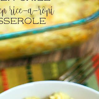 Green Chile Chicken Rice-A-Roni Casserole.
