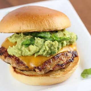 Guacamole Chicken Burgers.
