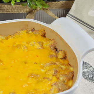 Cheesy Chicken Tender Tater Tot Casserole.