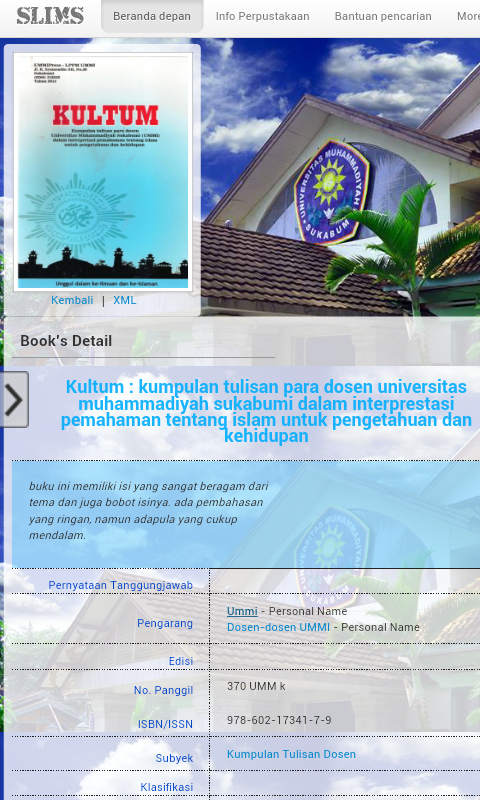 Katalog Perpustakaan UMMI- screenshot