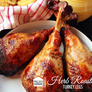Paleo Herb Roasted Turkey Legs.