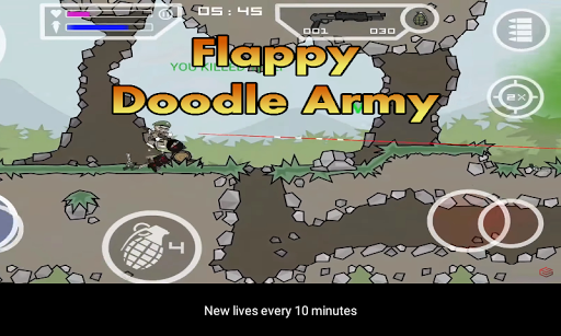 Flappy Doodle Army 2 : Mini Militia bird jump  captures d'écran 2