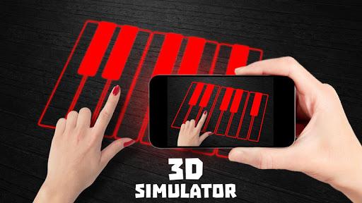 Laser Piano 3D Simulator