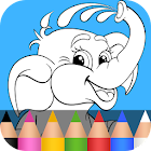 子供の色を塗る動物 2 icon