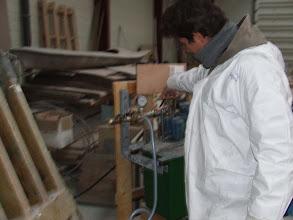 Photo: mise sous vide des éléments à tester - 1.12.2008