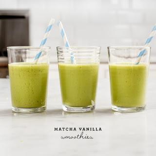 Matcha Vanilla Smoothies.