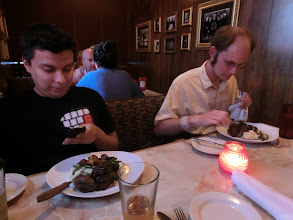 Photo: Luis, Krue, and Epoxy joined me for dinner.