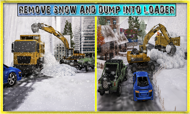 Snow Plow Excavator Rescue - screenshot