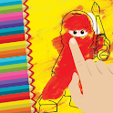 Go Paint Coloring Ninja Kids icon