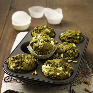 Kale, Bacon and Feta Muffins