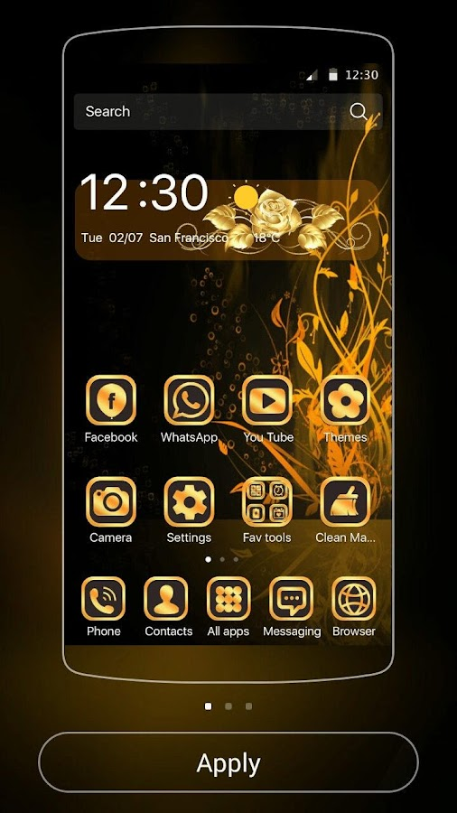 Theme Luxury Gold Rose- screenshot
