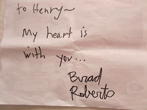 Photo: Brad Roberts of Crash Test Dummies @CTDBrad personal message to @MissingPearl (Father Henry Da Massa)