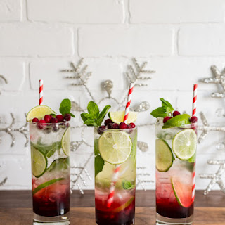 Spiced Hibiscus Cranberry Mojitos