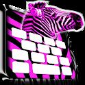 Pink Zebra Keyboard icon