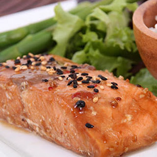 Teriyaki Salmon with Broccoli