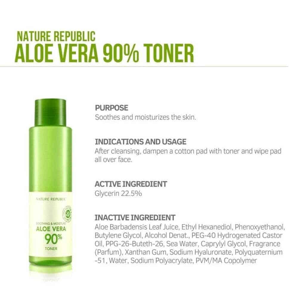 Nature Republic Shooting & Mouisture Aloe Vera 90% Toner