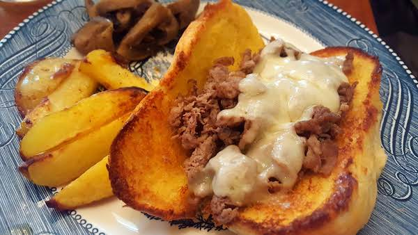 Shaved Steak French Dip With Swiss Recipe