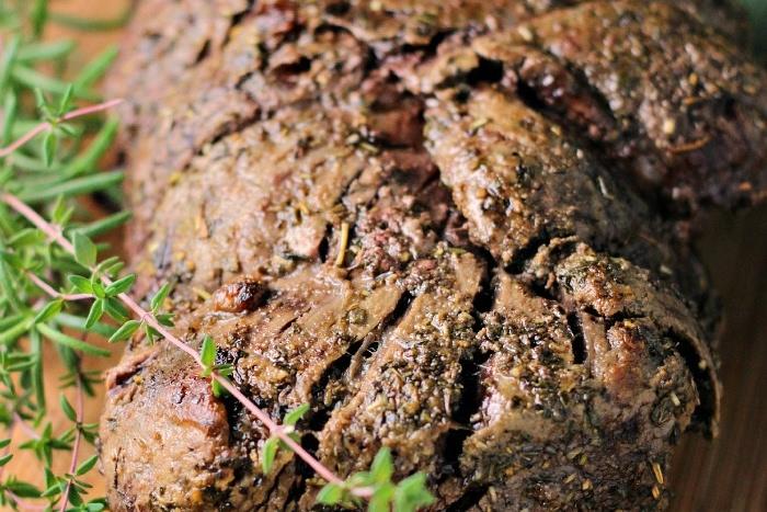 Garlic Herb Beef Tenderloin Roast with Creamy Horseradish Sauce
