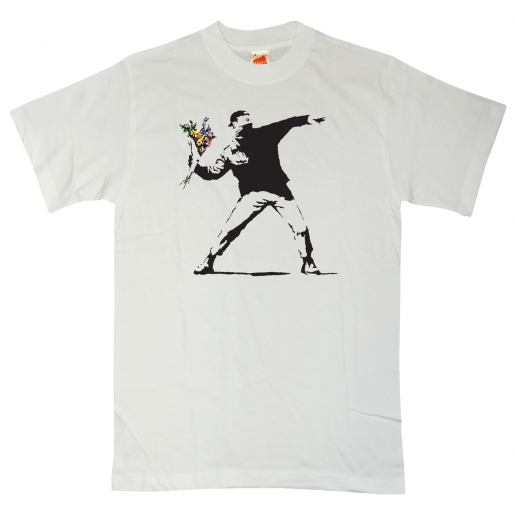 Photo: http://www.8ball.co.uk/GraphicArtistT-shirts/Banksytshirt-ThrowingFlowers.html