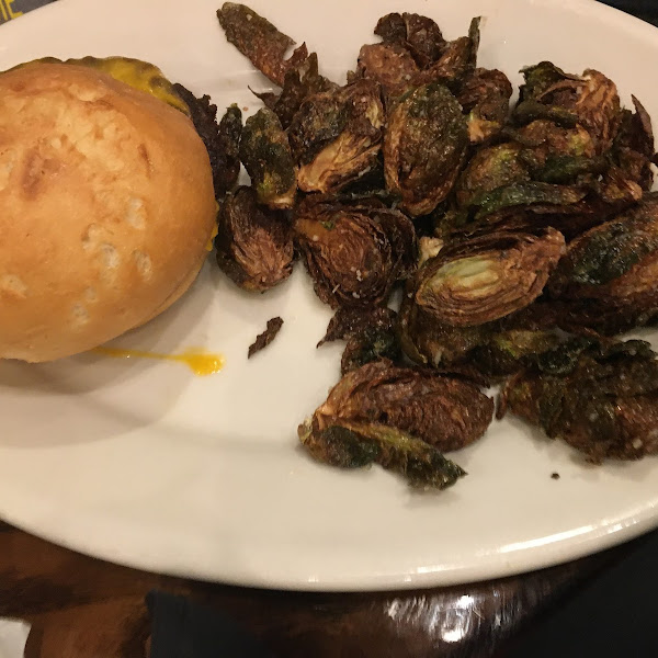 Pan Fried Burger; Brussels sprouts 6/21